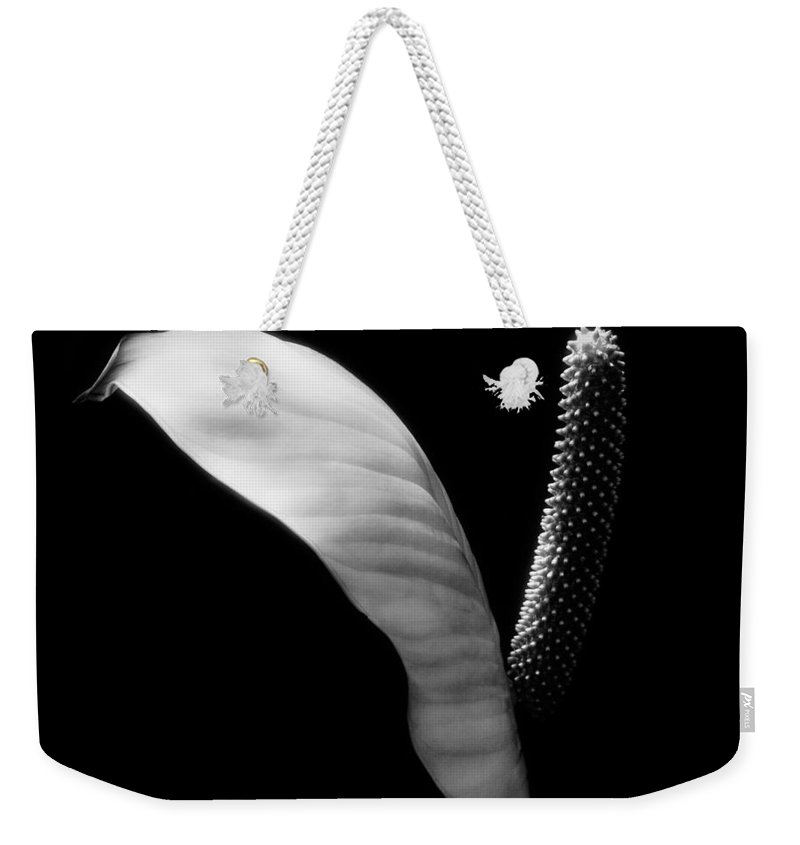 Weekender Tote Bag featuring the photograph Peace Lilly by Marilyn Hunt