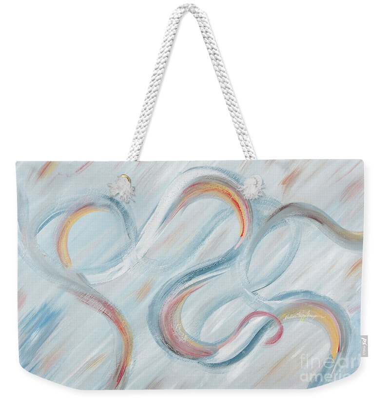 Peace Weekender Tote Bag featuring the painting Peace by Nadine Rippelmeyer