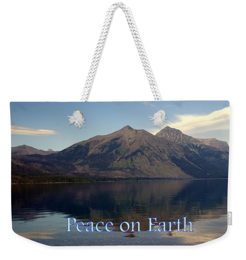 Photo Greeting Card Weekender Tote Bag featuring the greeting card Peace On Earth 1 by Marty Koch