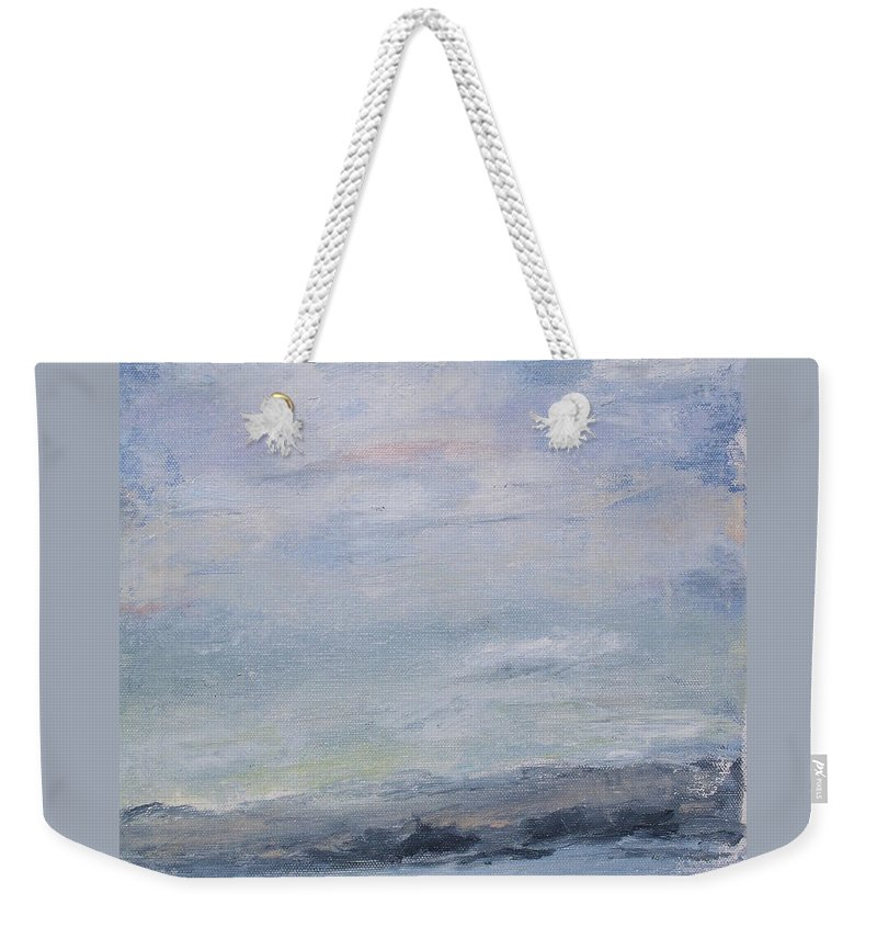 Sky Weekender Tote Bag featuring the painting Peace by Patricia Caldwell