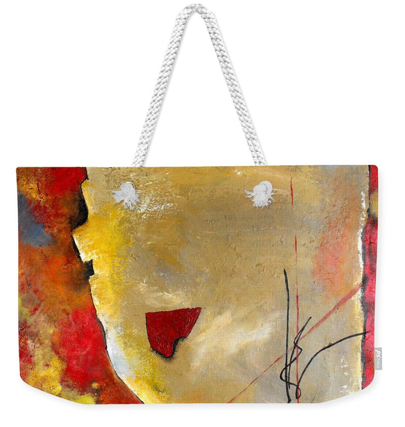 ruth Palmer Weekender Tote Bag featuring the painting Peace Piece by Ruth Palmer