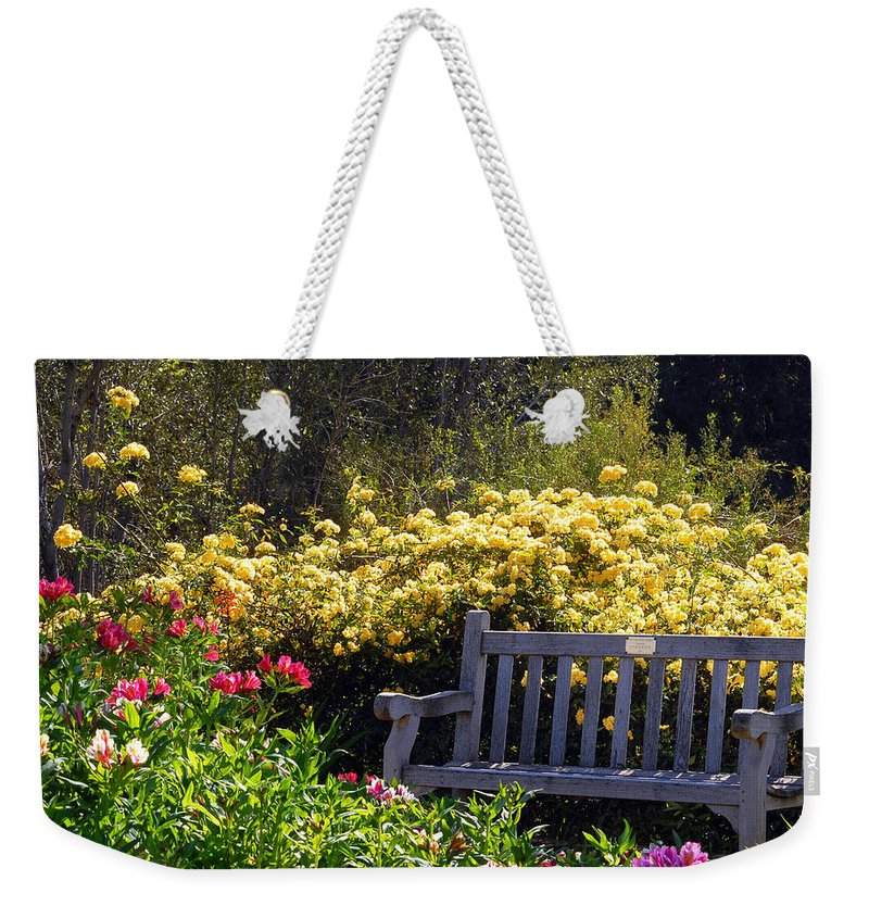 Flowers Weekender Tote Bag featuring the photograph Peaceful by Amy Fose