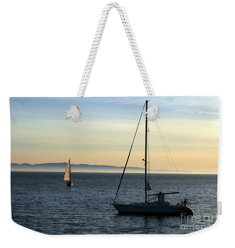 Clay Weekender Tote Bag featuring the photograph Peaceful Day In Santa Barbara by Clayton Bruster