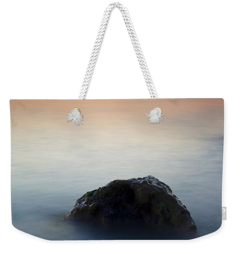Rock Weekender Tote Bag featuring the photograph Peaceful Isolation by Mike Dawson