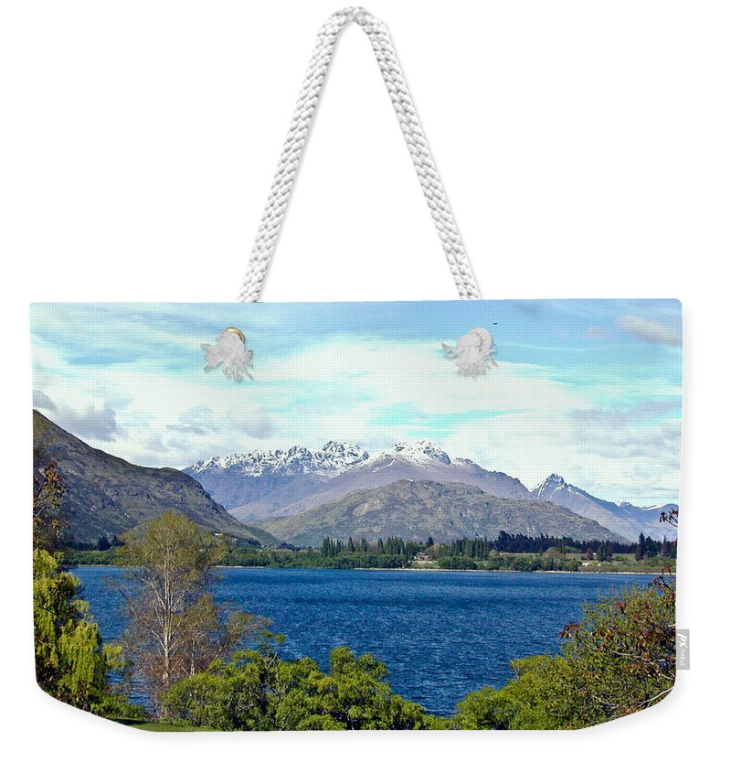 Lake Weekender Tote Bag featuring the photograph Peaceful Lake -- New Zealand by Douglas Barnett