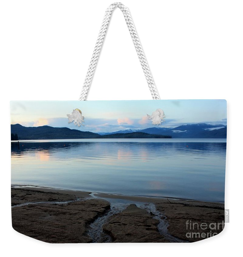 Beach Weekender Tote Bag featuring the photograph Peaceful Priest Lake by Carol Groenen
