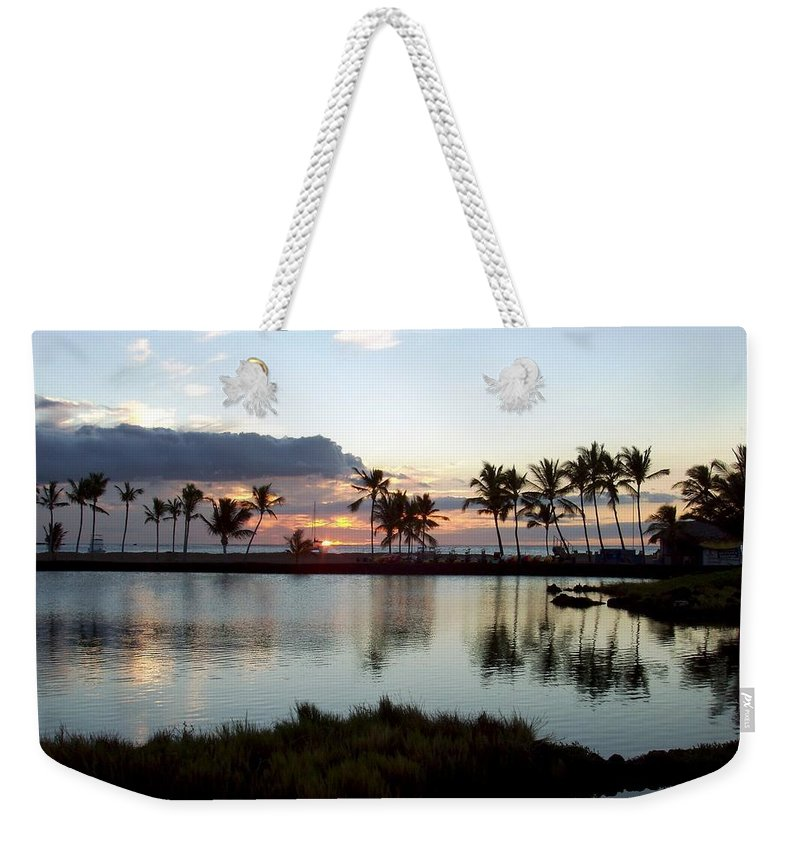 Sunset Weekender Tote Bag featuring the photograph Peaceful Sunset by Deborah Crew-Johnson