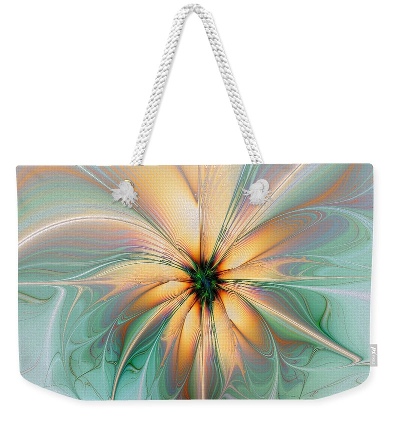 Digital Art Weekender Tote Bag featuring the digital art Peach Allure by Amanda Moore