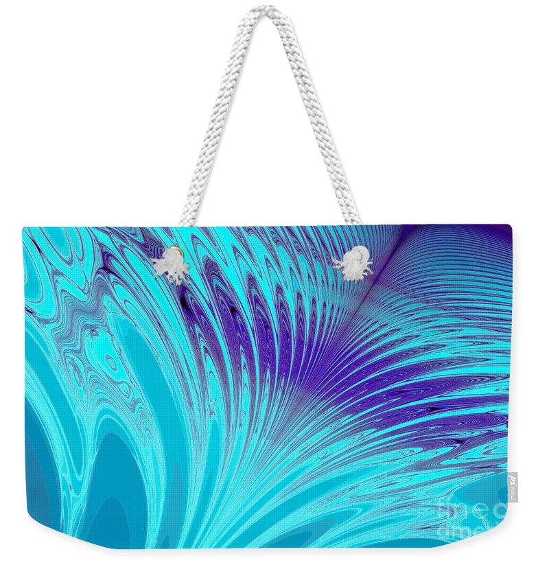 Clay Weekender Tote Bag featuring the digital art Peacock by Clayton Bruster