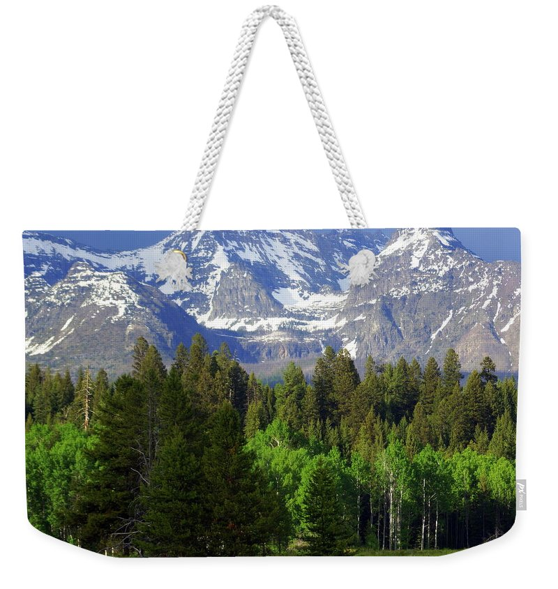 Mountains Weekender Tote Bag featuring the photograph Peaks by Marty Koch