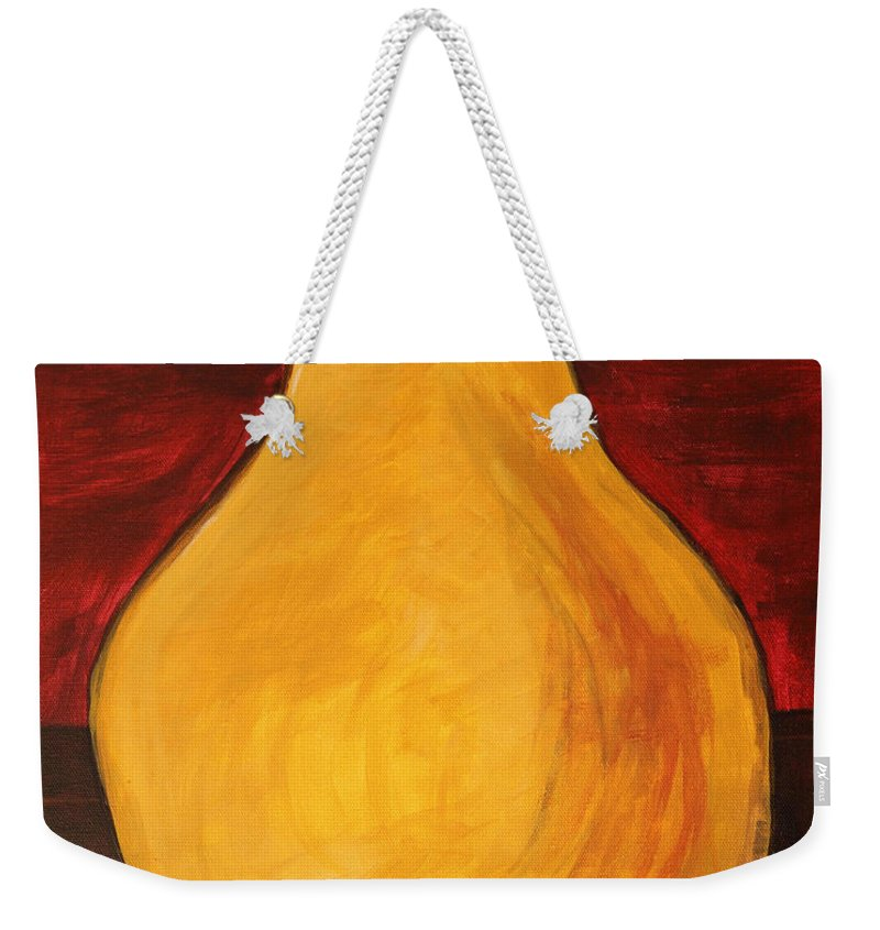 Pears Weekender Tote Bag featuring the painting Pear by Amanda Barcon
