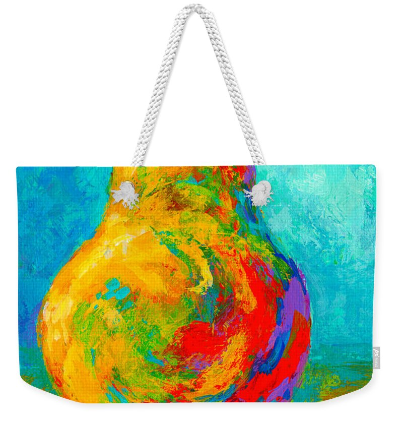 Pear Weekender Tote Bag featuring the painting Pear I by Marion Rose