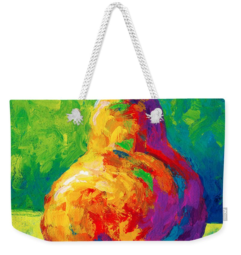 Pear Weekender Tote Bag featuring the painting Pear II by Marion Rose