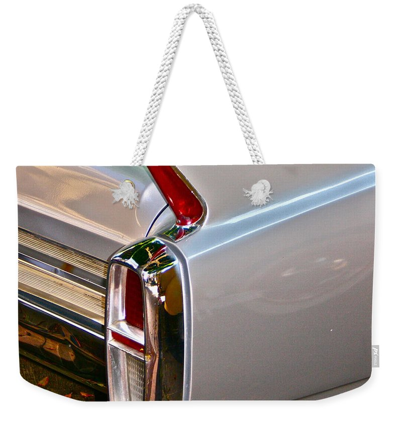 Classic Car Photographs Weekender Tote Bag featuring the photograph Pearl by Gwyn Newcombe