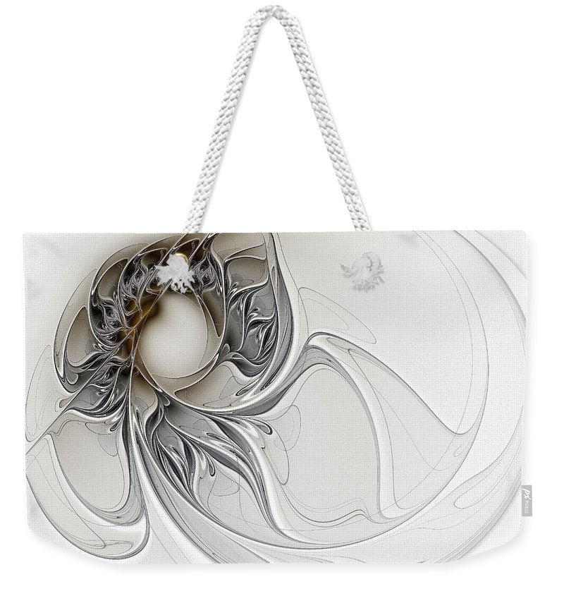 Digital Art Weekender Tote Bag featuring the digital art Pearl by Amanda Moore
