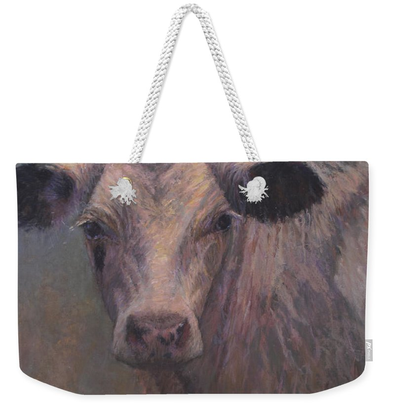 Animals Weekender Tote Bag featuring the pastel Pearl by Susan Williamson