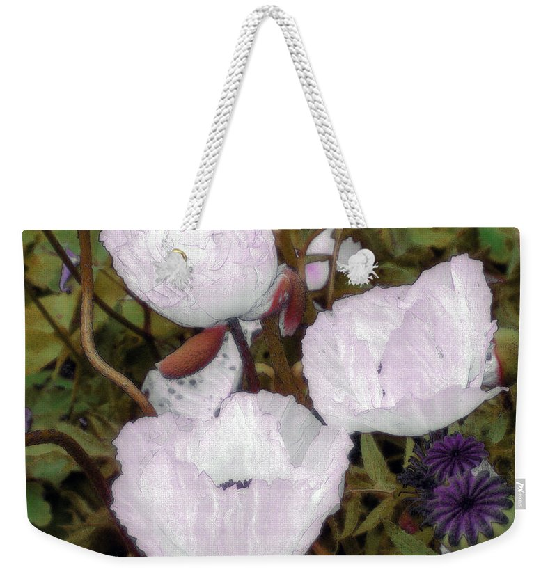 Blooms Weekender Tote Bag featuring the digital art Pearlblossoms by RC deWinter