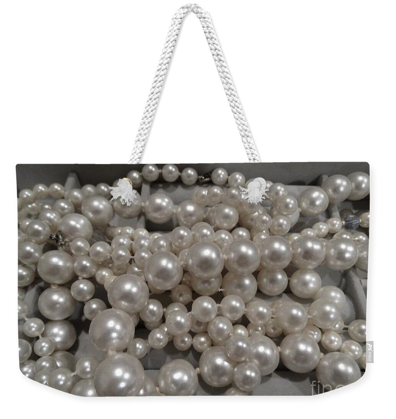 Pearls Weekender Tote Bag featuring the photograph Pearls by Gina Sullivan