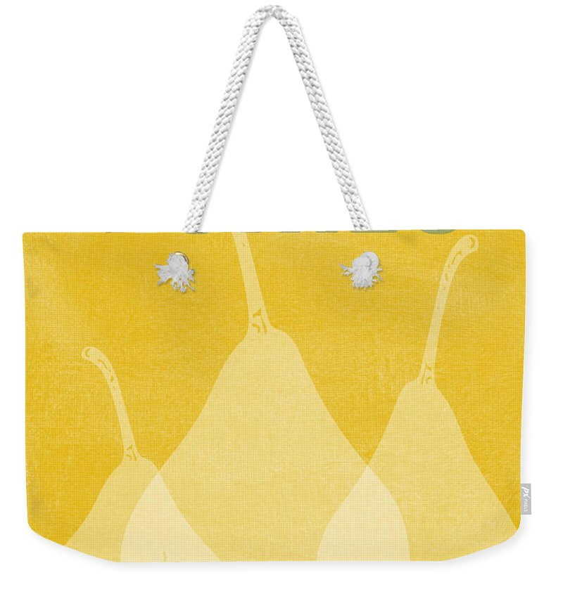Pears Weekender Tote Bag featuring the digital art Pears- Art By Linda Woods by Linda Woods