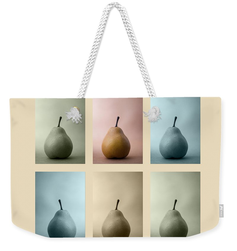 Pear Weekender Tote Bag featuring the photograph Pears Squared by Carol Leigh