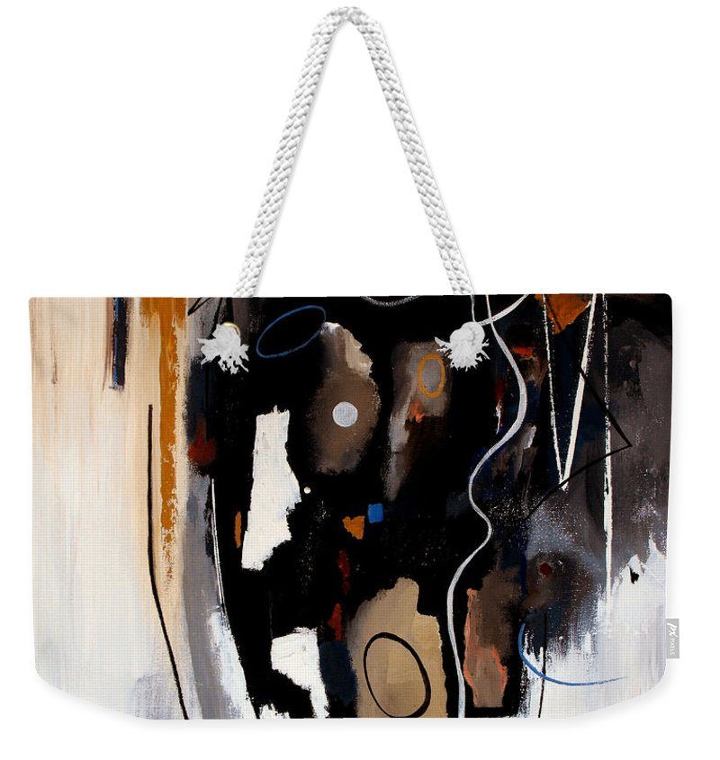 Abstract Weekender Tote Bag featuring the painting Pebbles In The Stream by Ruth Palmer