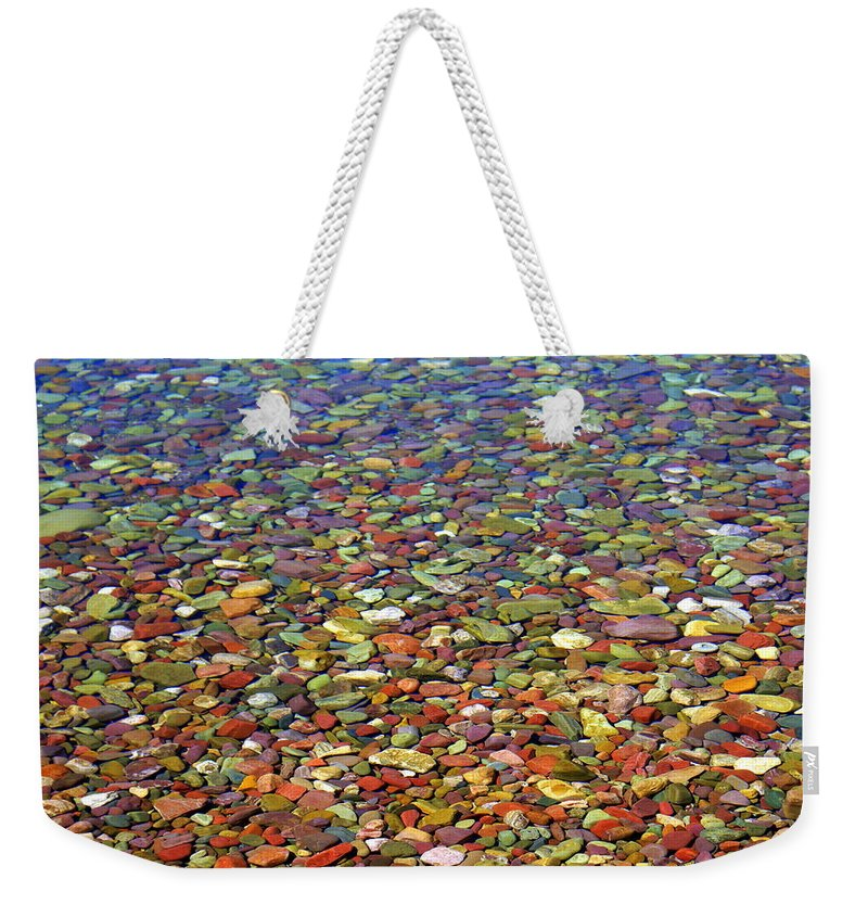 Water Weekender Tote Bag featuring the photograph Pebbles by Marty Koch