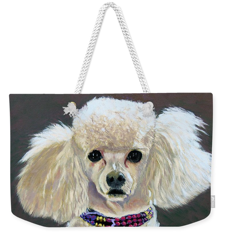 Dog Weekender Tote Bag featuring the painting Pebbles by Stan Hamilton