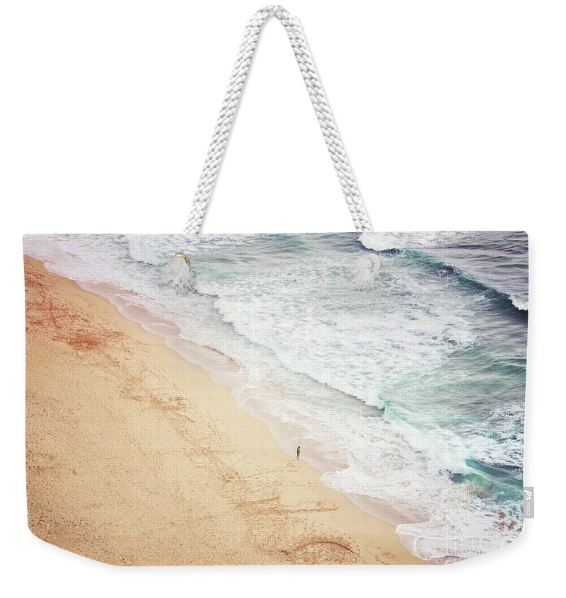 Pedn Vounder Weekender Tote Bag featuring the photograph Pedn Vounder by Lyn Randle