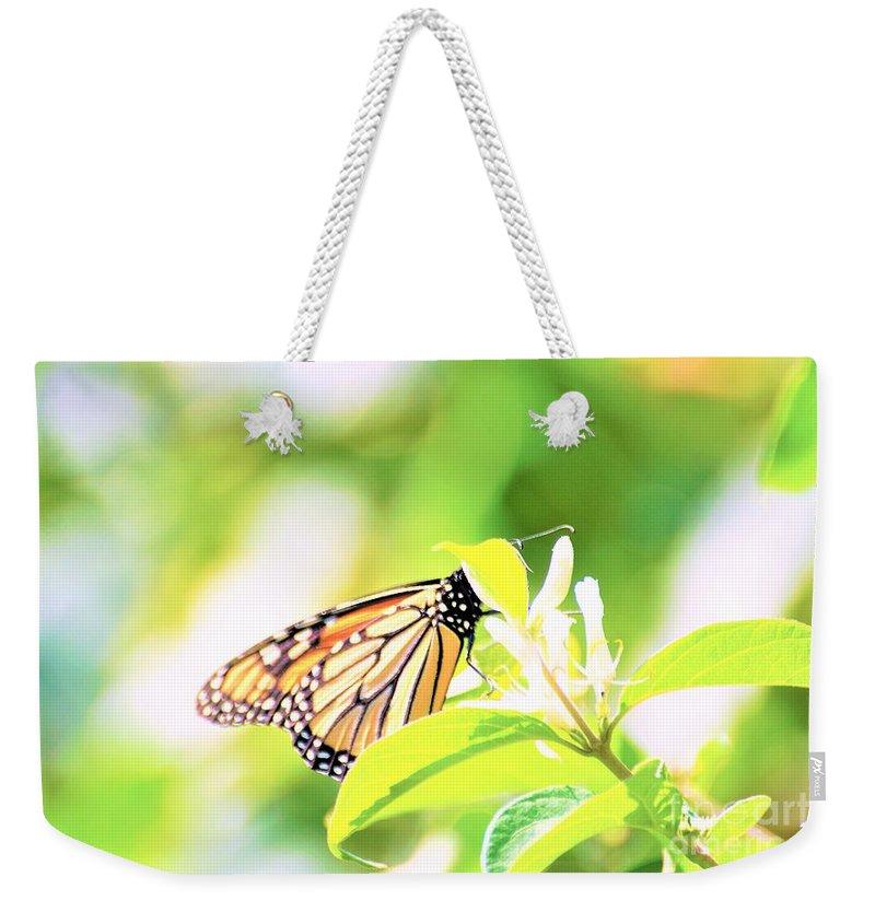 Butterflies Weekender Tote Bag featuring the photograph Peek-a-boo by Merle Grenz