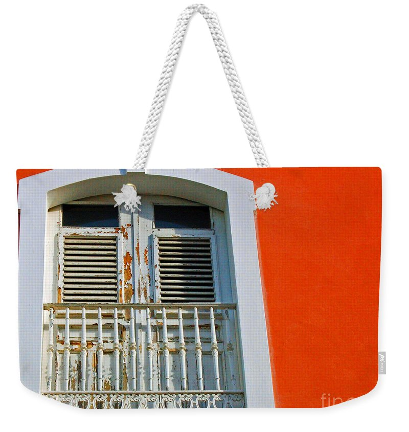 Shutters Weekender Tote Bag featuring the photograph Peel An Orange by Debbi Granruth