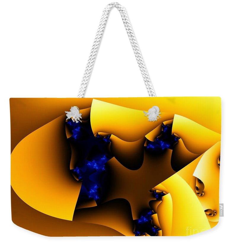 Fractal Art Weekender Tote Bag featuring the digital art Peeling Away by Ron Bissett