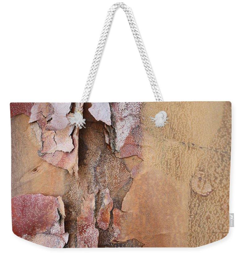 Bark Weekender Tote Bag featuring the photograph Peeling Bark by Carol Groenen