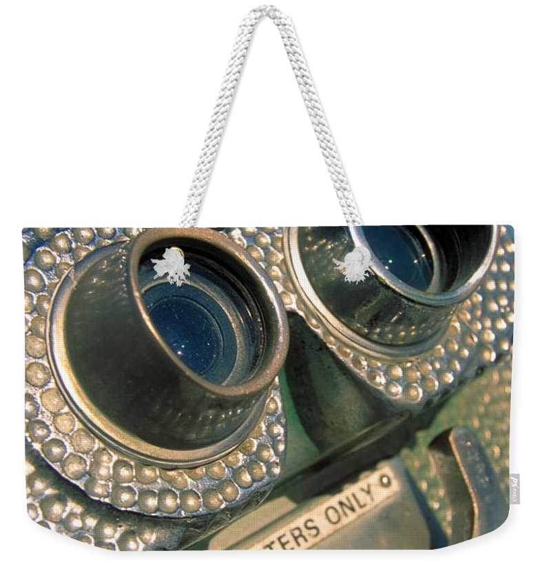 View Weekender Tote Bag featuring the photograph Peep Show by Skip Hunt