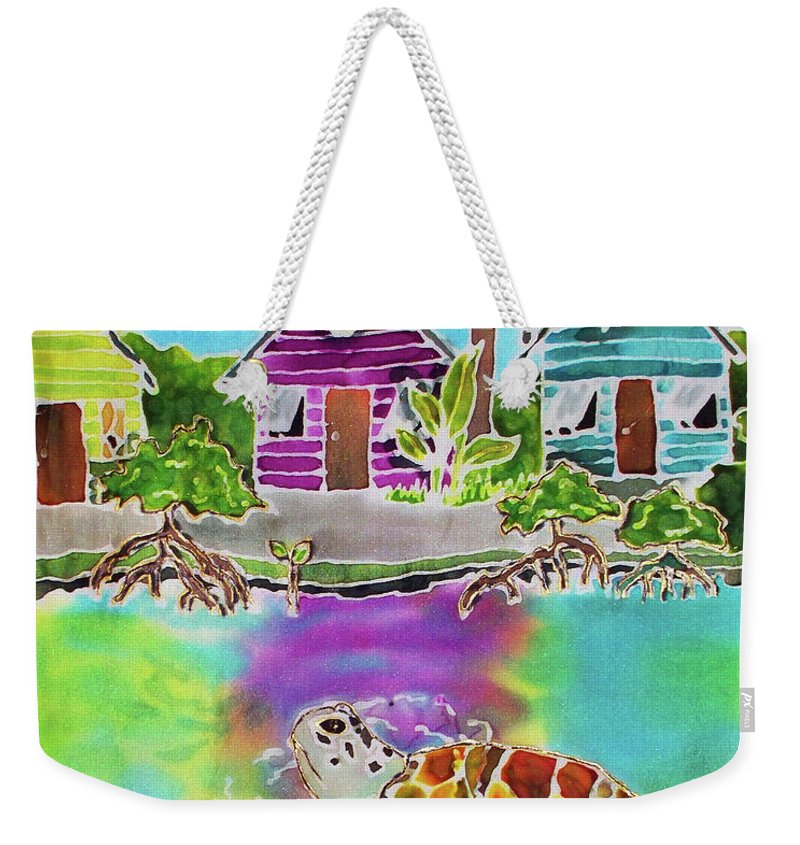 Bahamas Art Weekender Tote Bag featuring the painting Peepin Tom by Tiff