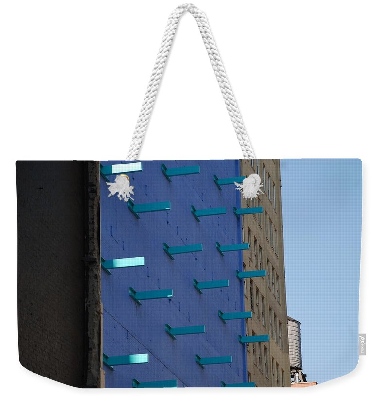 Architecture Weekender Tote Bag featuring the photograph Peg Board by Rob Hans