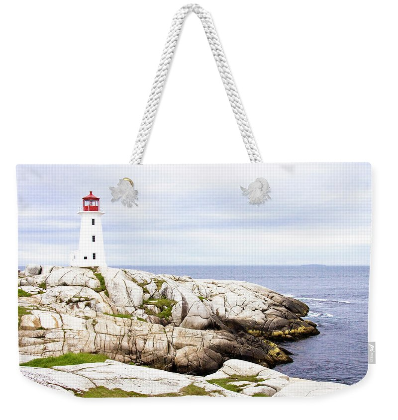 Peggy's Cove Weekender Tote Bag featuring the photograph Peggy's Cove by John McDermott