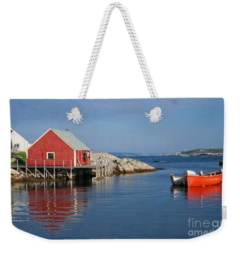 Peggy's Cove Weekender Tote Bag featuring the photograph Peggys Cove by Thomas Marchessault