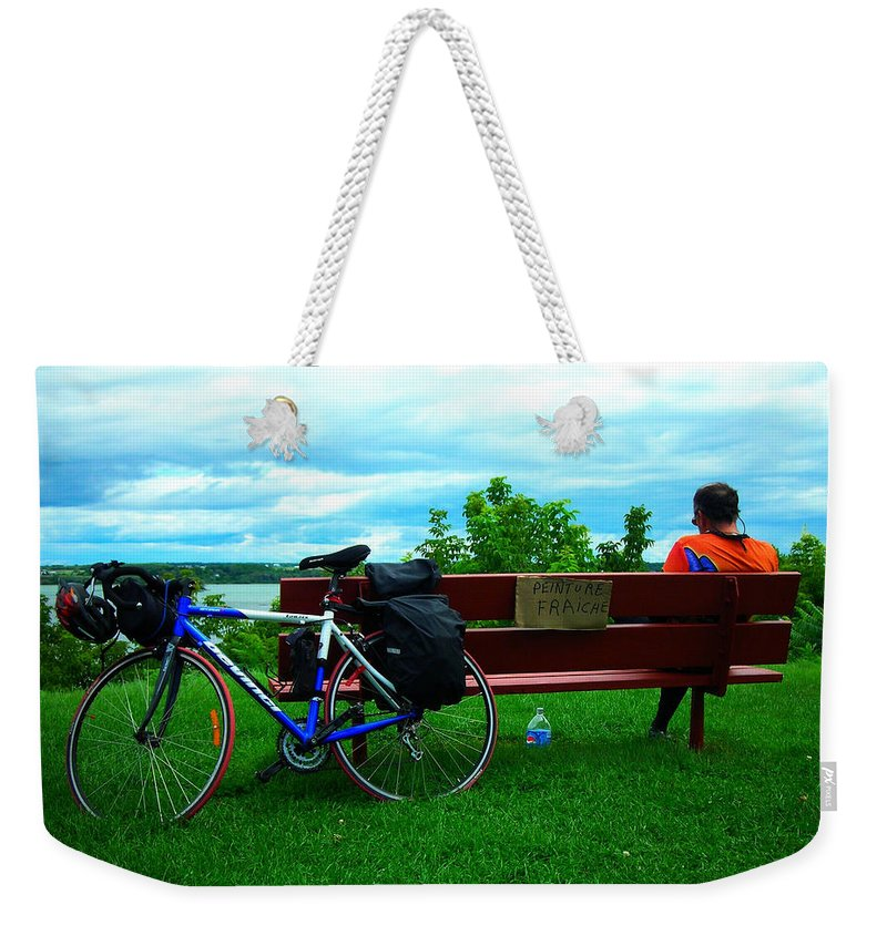 Outdoor Weekender Tote Bag featuring the photograph Peinture Fraiche ... by Juergen Weiss