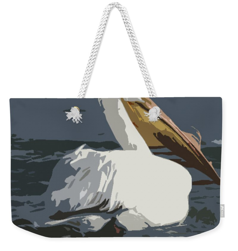 Pelican Weekender Tote Bag featuring the photograph Pelican Cut Out by Heather Coen