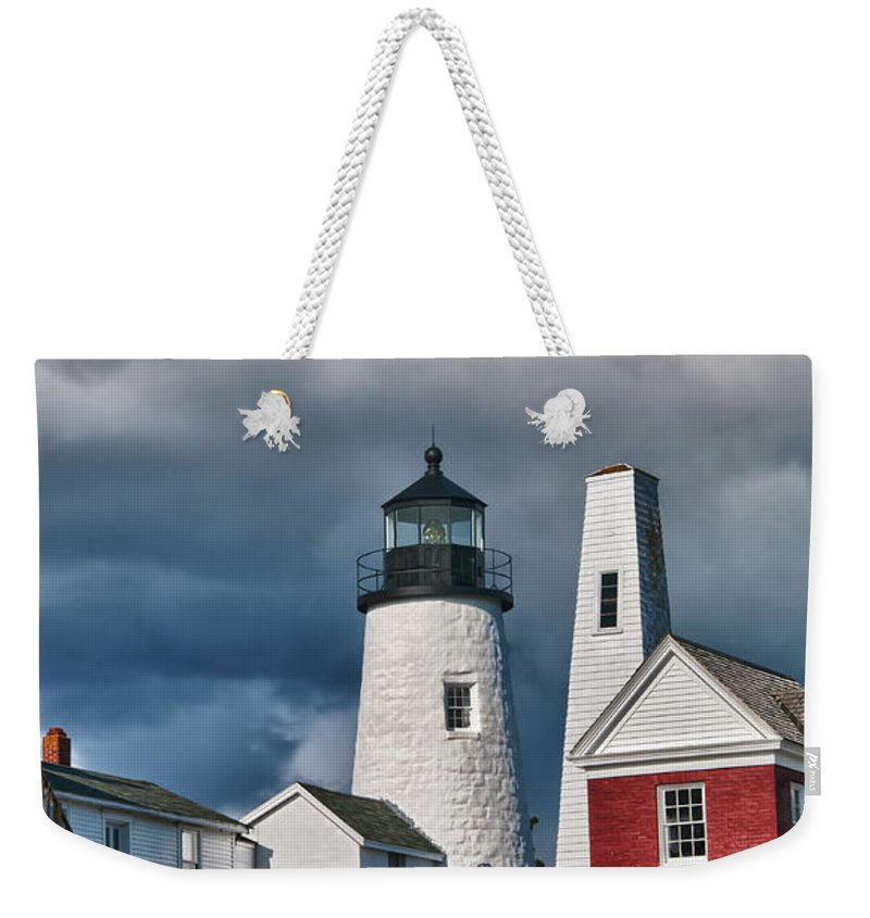 Buildings Weekender Tote Bag featuring the photograph Pemaquid Point Lighthouse 4821 by Guy Whiteley