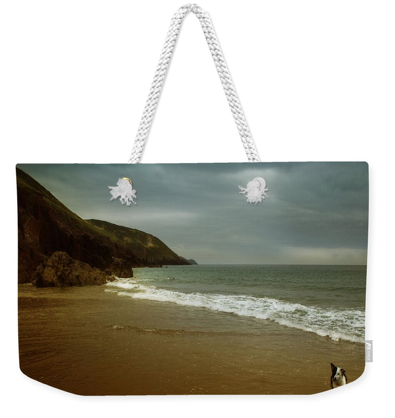 Beach Weekender Tote Bag featuring the photograph Pembrokeshire by Angel Tarantella