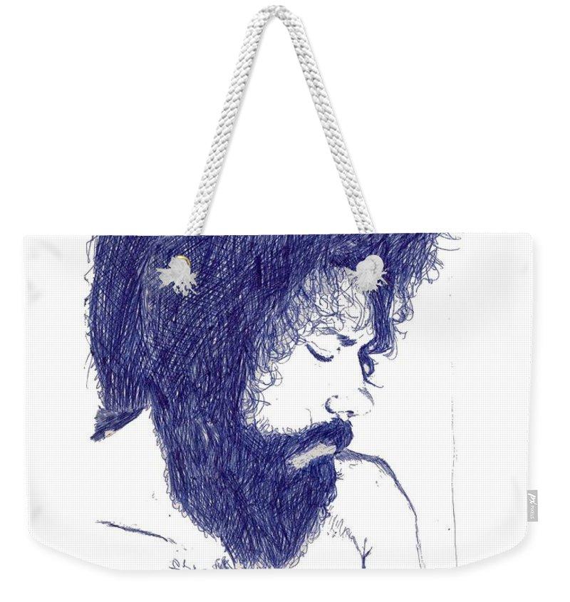 Portrait Weekender Tote Bag featuring the digital art Pen Portrait by Ron Bissett