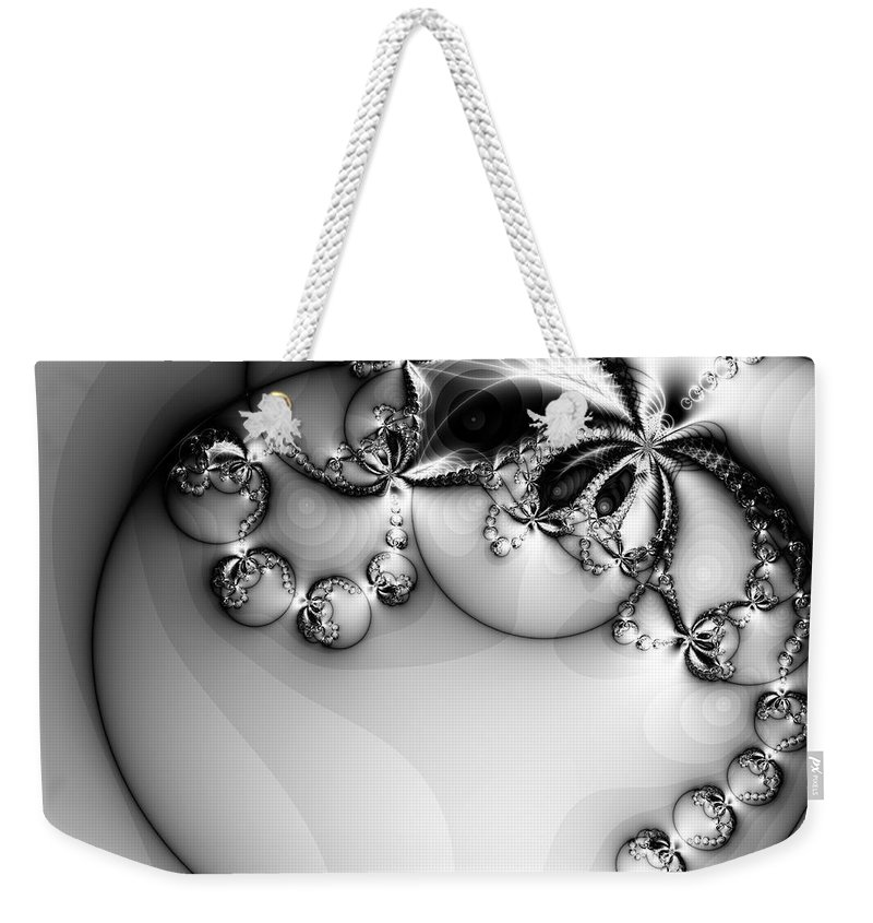 Digital Art Weekender Tote Bag featuring the digital art Pendant In Silver by Amanda Moore