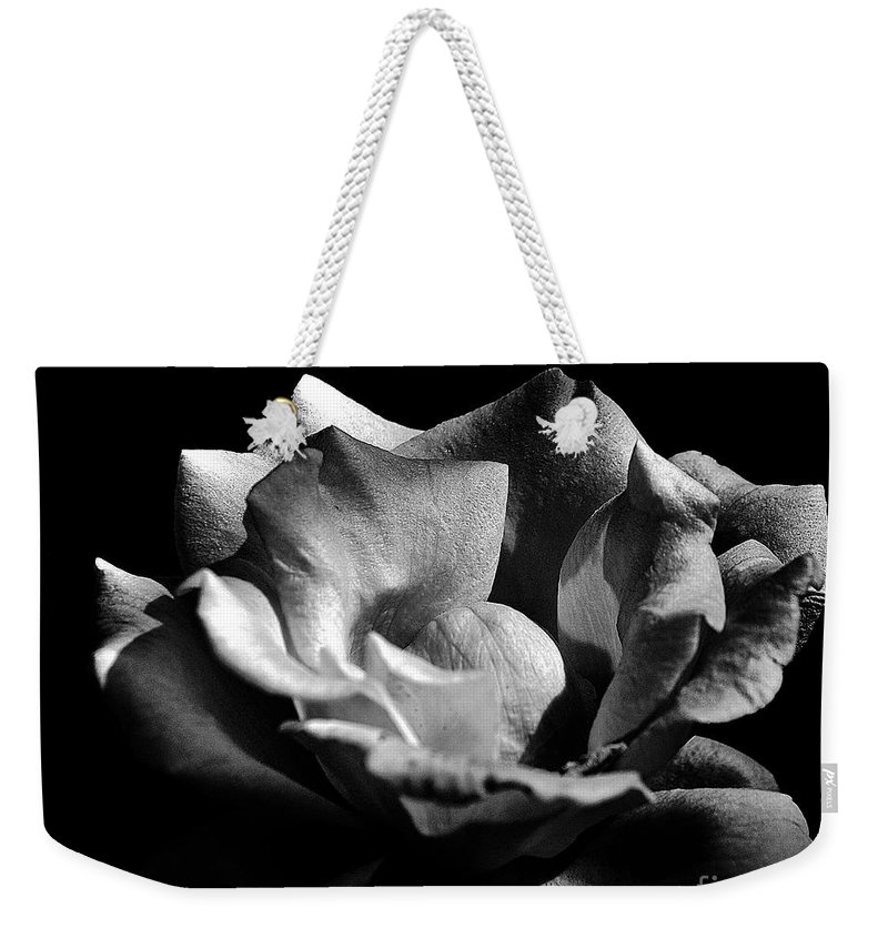 Clay Weekender Tote Bag featuring the photograph Penetrating The Rose by Clayton Bruster