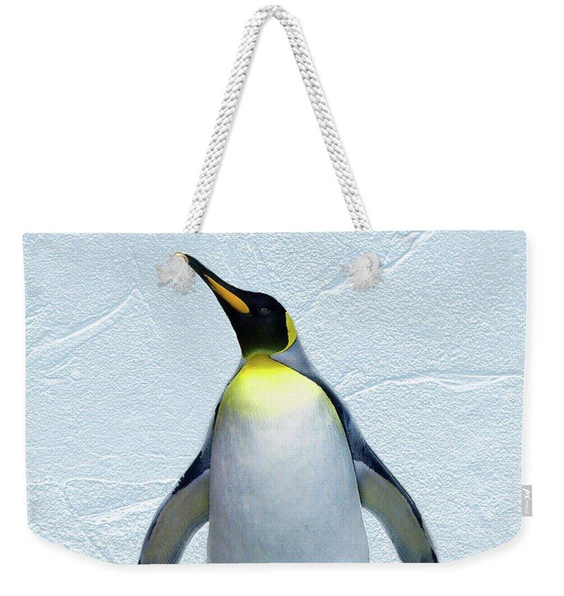 Penguin Weekender Tote Bag featuring the digital art Penguin by Steve Karol
