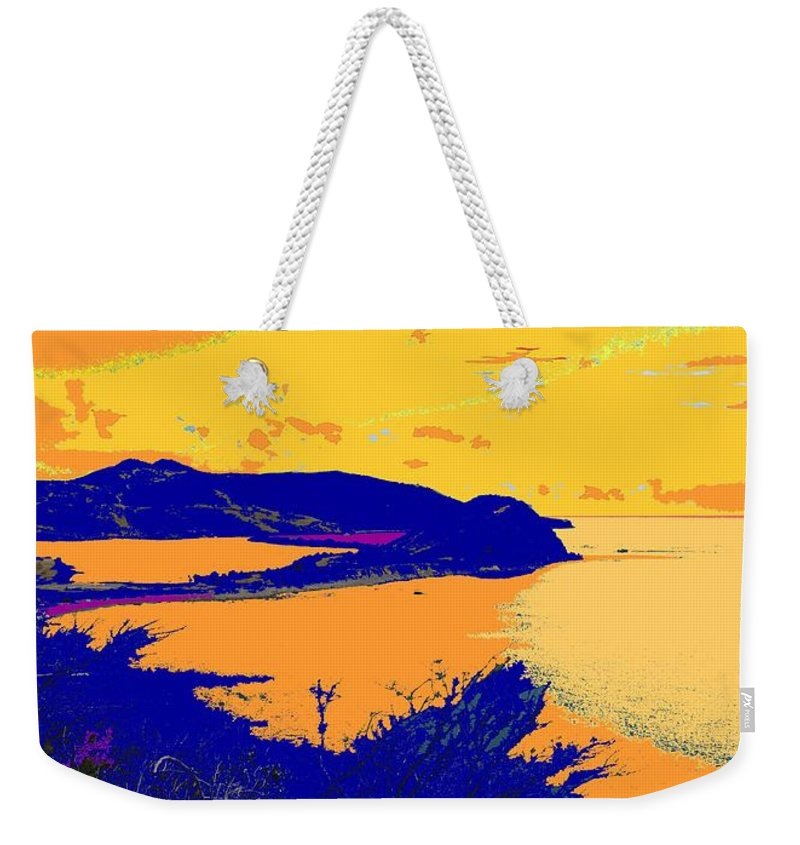 St Kitts Weekender Tote Bag featuring the photograph Peninsula Orange by Ian MacDonald