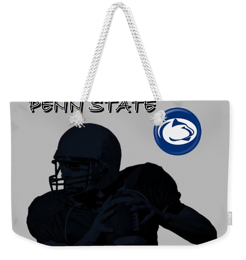 Football Weekender Tote Bag featuring the digital art Penn State Football by David Dehner