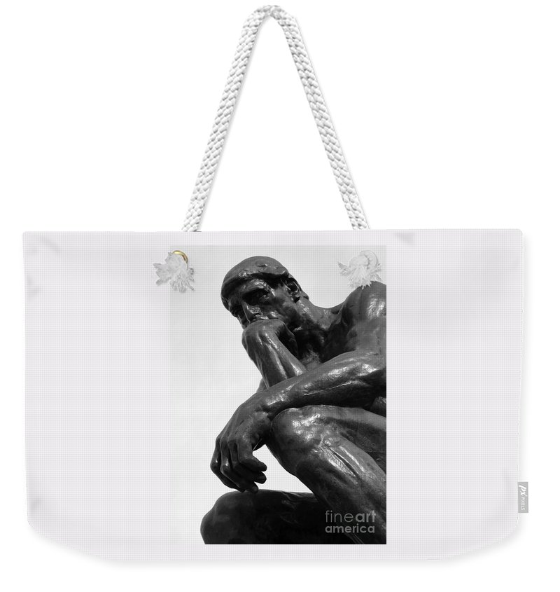 The Thinker Weekender Tote Bag featuring the photograph Pensive by Ann Horn