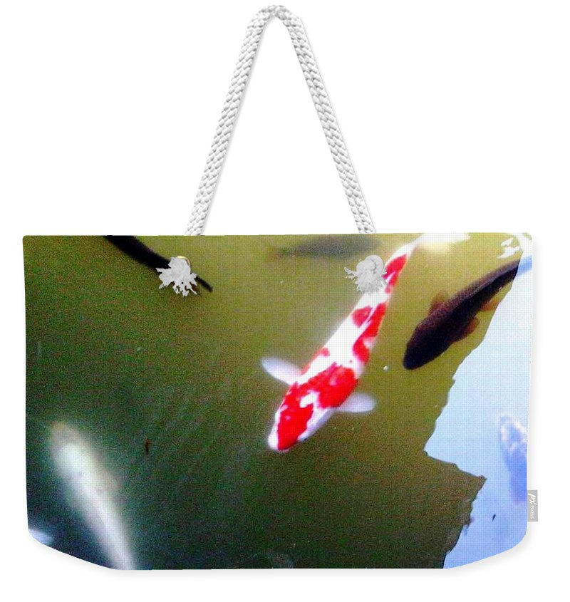 Bonsai Photo Weekender Tote Bag featuring the photograph People In The Pond by Lord Frederick Lyle Morris