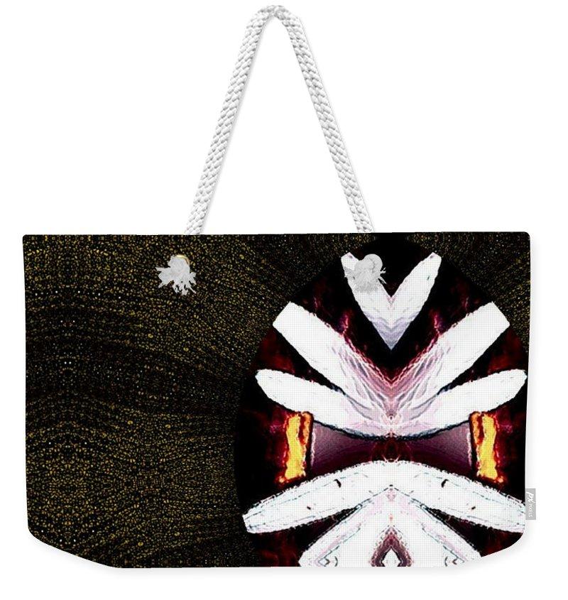 Oriental Weekender Tote Bag featuring the mixed media Pepitas Oriental Art by Pepita Selles
